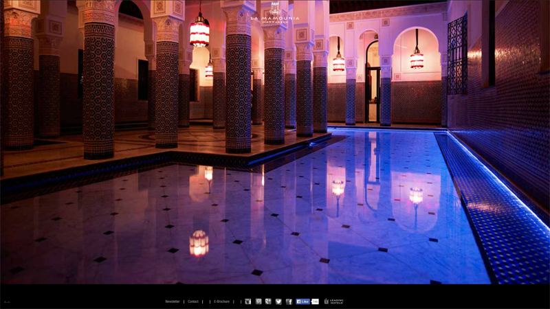 La Mamounia, Marrakesh thiet ke website khach san