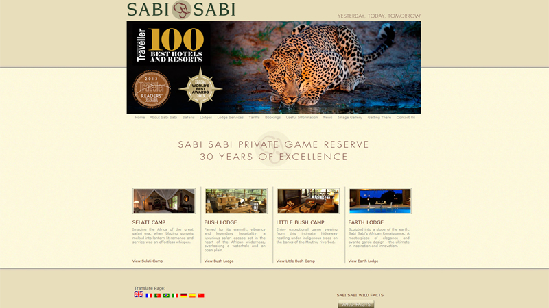 Sabi Sabi Private Game Reserve, South Africa thiet ke website khach san