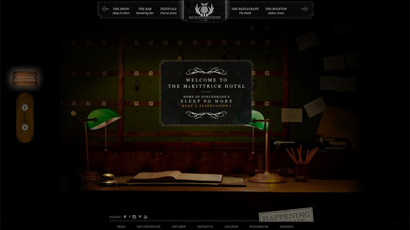 The McKittrick Hotel thiet ke website khach san