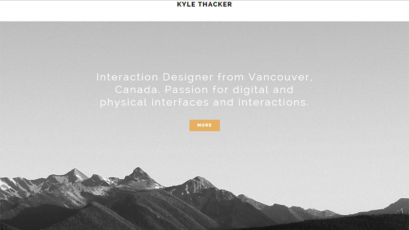 Kyle Thacker thiet ke website dep