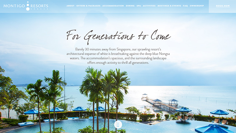Montigo Resorts thiet ke website dep