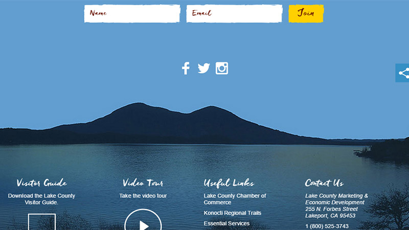Lake County thiet ke website dep