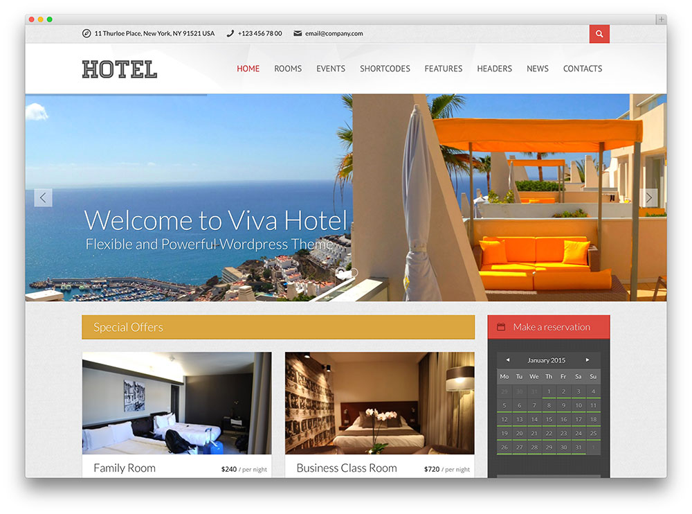 viva hotel booking theme thiet ke web khach san