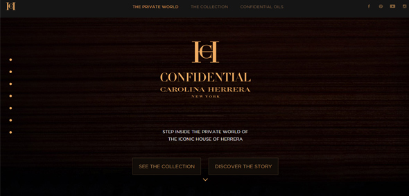 Carolina-Herrera-Confidential cach thiet ke website dep