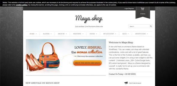 MayaShop---A-Flexible-Responsive-e-Commercethiet ke website ban hang