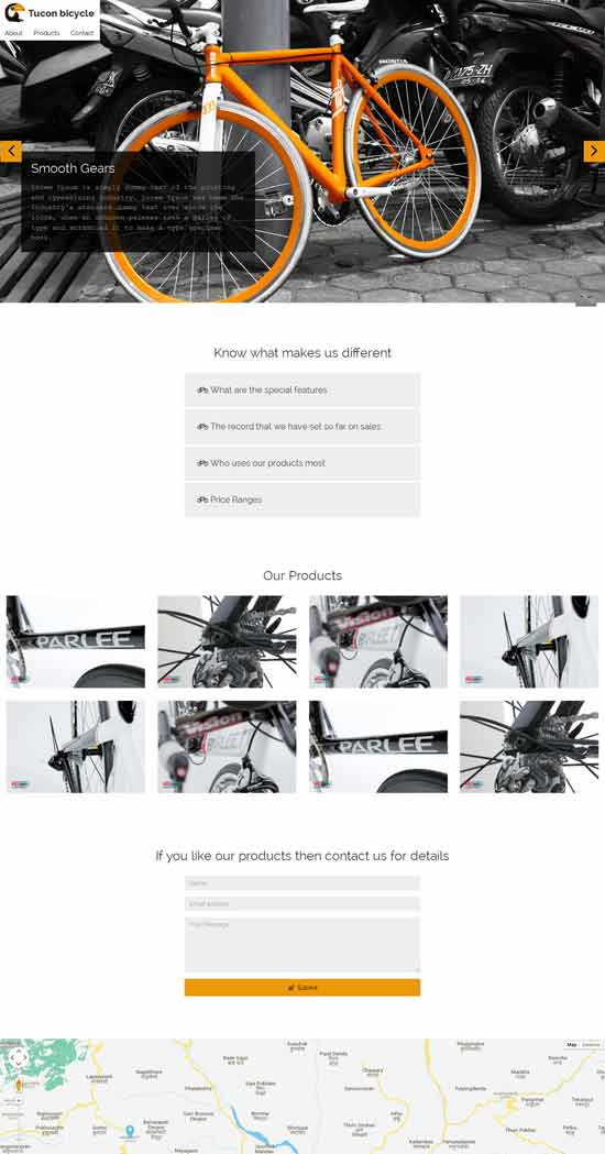 free landing page for bicycle shops thiet ke web ban hang