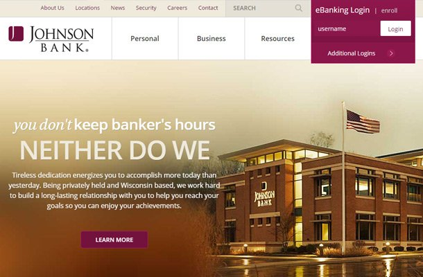 johnson bank homepage website layout Thiet ke website chuyen nghiep
