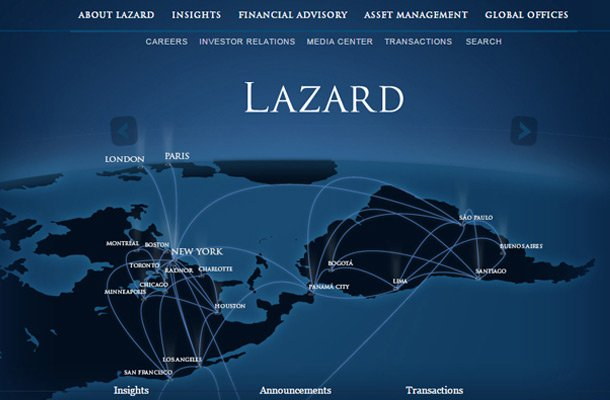 lazard financial company website Thiet ke website chuyen nghiep