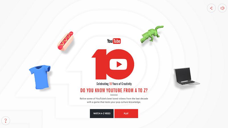 YouTube thiết kế báo cáo thường niên