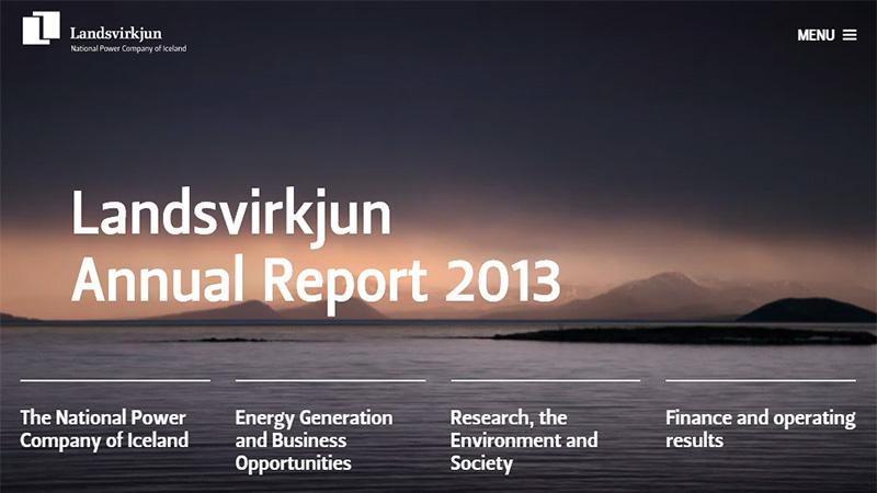 Landsvirkjun thiết kế báo cáo thường niên