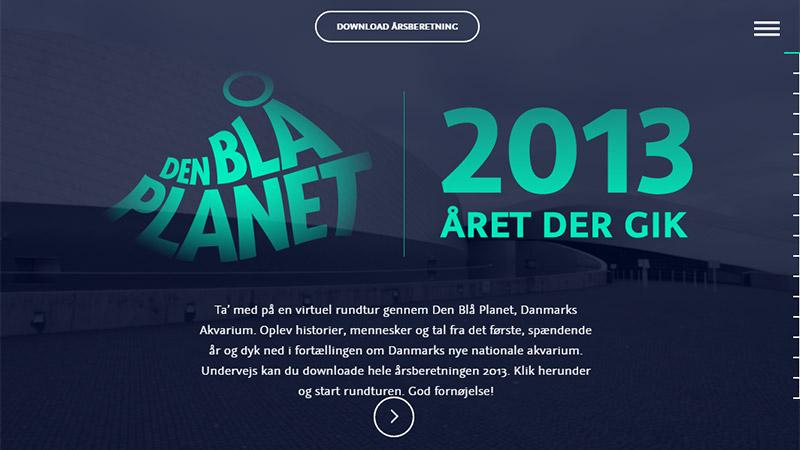 Den Bla Planet thiết kế báo cáo thường niên