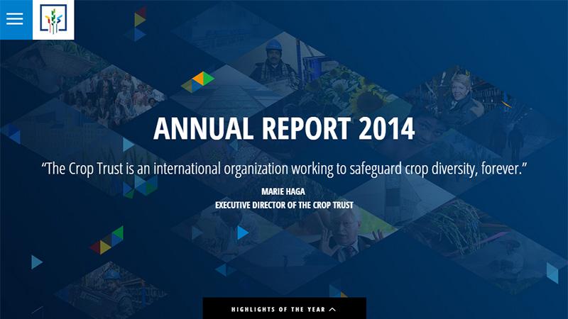Crop Trust thiết kế báo cáo thường niên