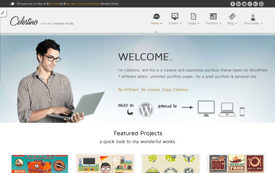 celestino free portfolio wordpress theme thiet ke web