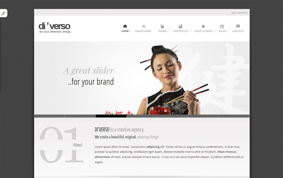 diverso free portfolio wordpress theme thiet ke web