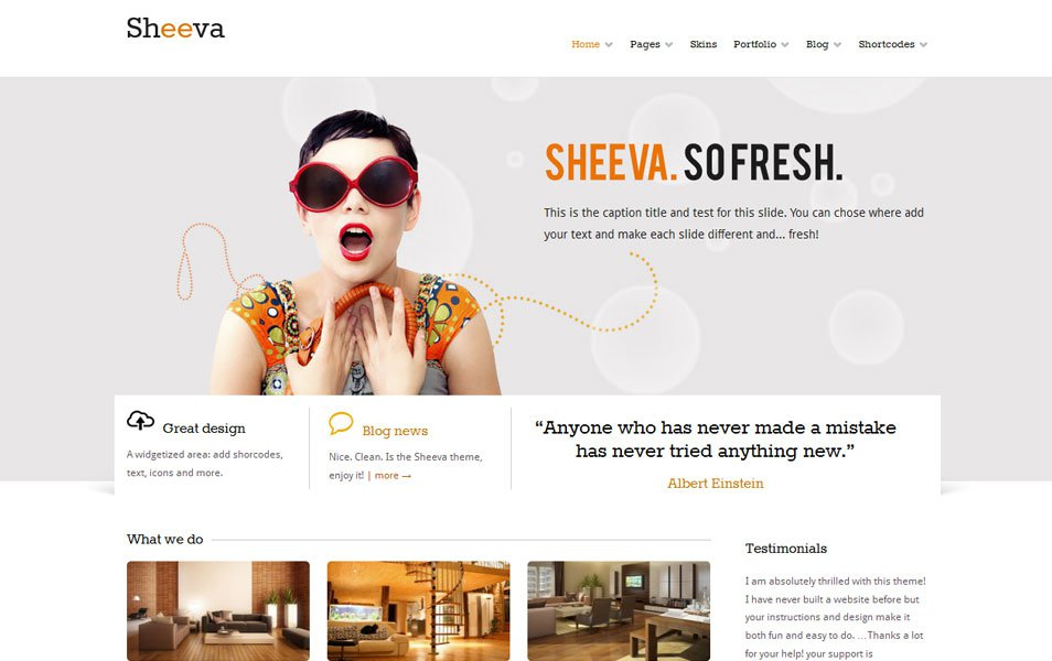 sheeva free portfolio wordpress theme thiet ke web