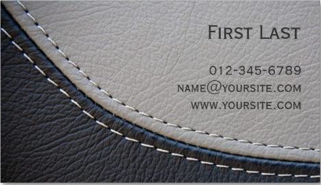 Thiet ke bo nhan dien thuong hieu sang tao creative leather business cards
