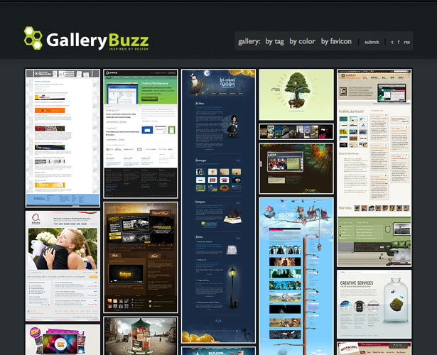 gallerybuzz thiet ke web