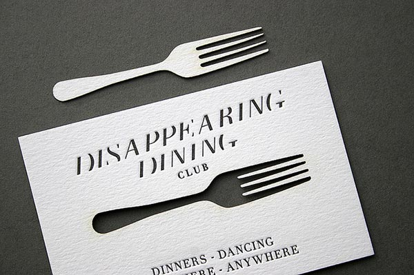 Thiet ke bo nhan dien thuong hieu sang tao Disappearing-Dining-Club-Laser-cut-Business-Card-2
