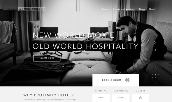 Proximity-Hotel thiet ke website du lich