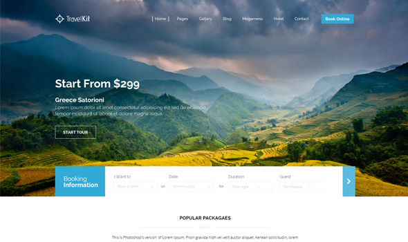 Travelkit thiet ke website du lich