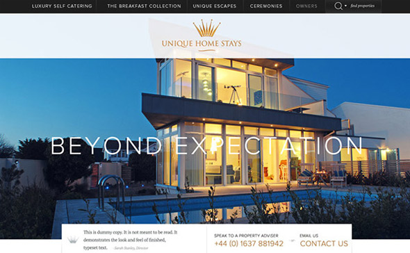 Unique-Home-Stays-by-Gendall thiet ke website du lich