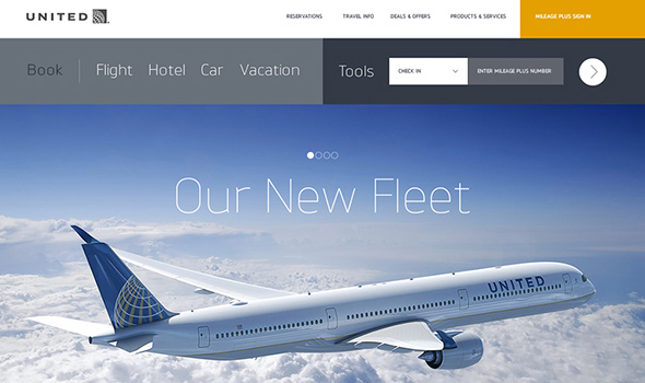 United-Airlines-Website-Redesign thiet ke website du lich