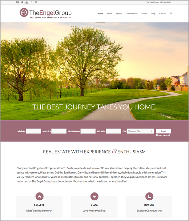 Engel Group real estate website design