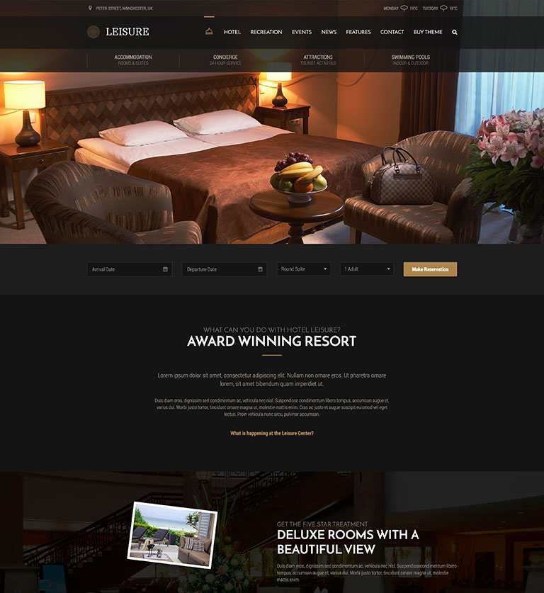 leisure hotel theme