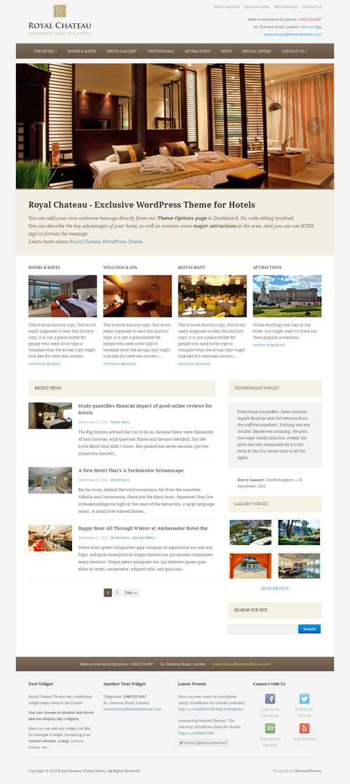 royal chateau wordpress theme