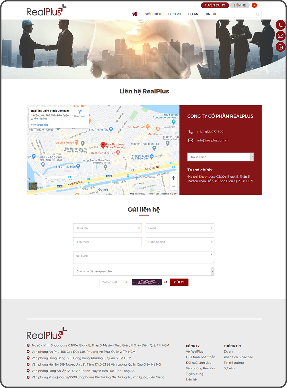 Du an lam website realplus 4
