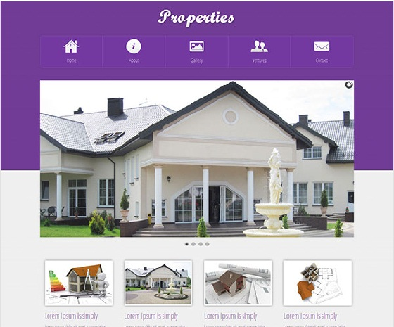 template thiet ke web bat dong san Properties