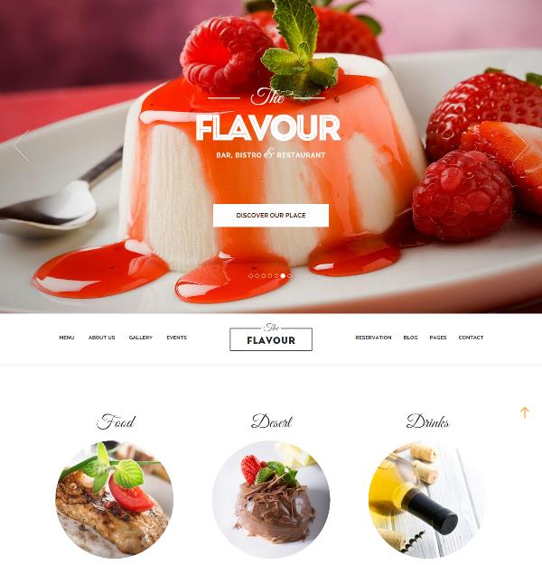 the flavour restaurant and food wordpress theme