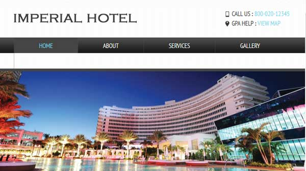 Thiet ke website khach san imperial hotel