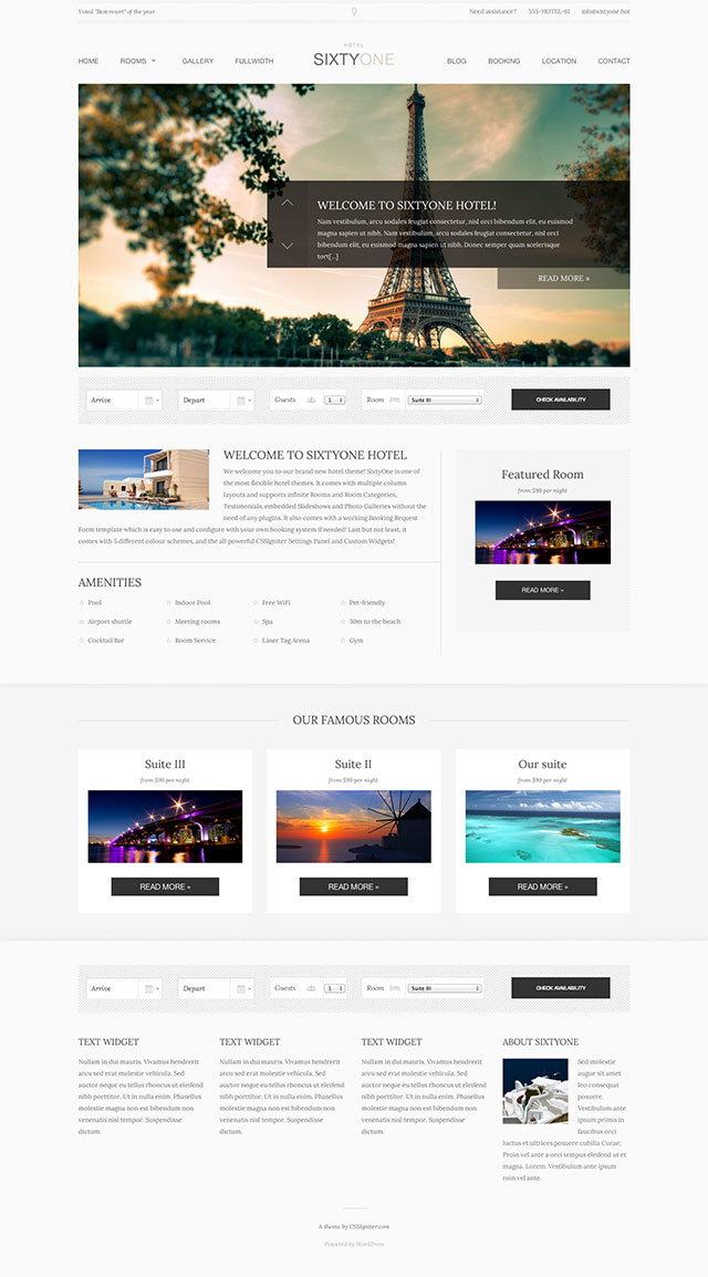 tim hieu chu de wordpress 2016 book your travel va sixtyone danh cho thiet ke website khach san 2
