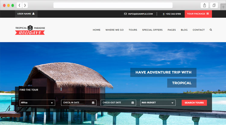 tim hieu mau thiet ke website du lich tropical va trips 1